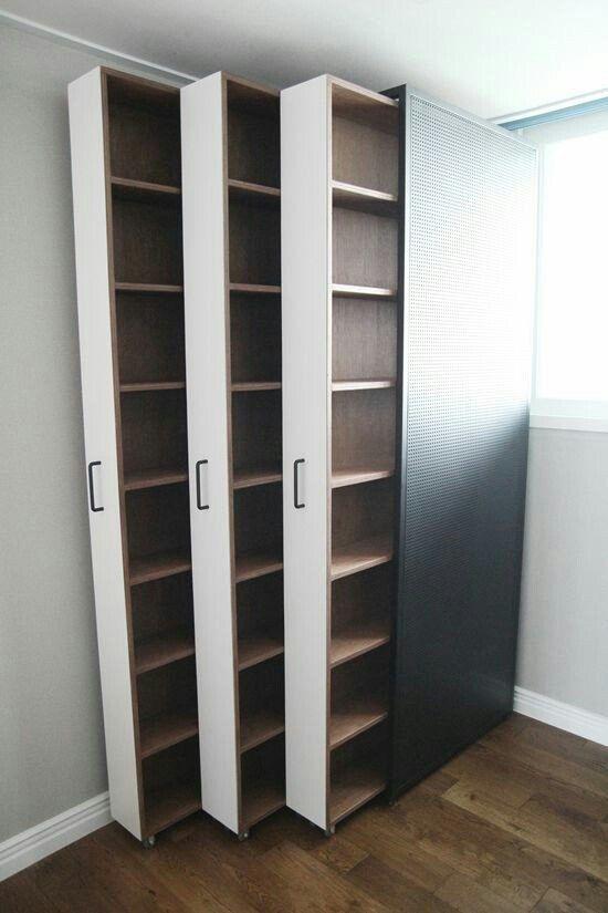 Armando Iachini Estantes 2 - Armando Iachini: Muebles de almacenamiento para espacios pequeños
