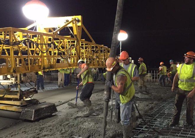 Equipos de iluminación en obras de construcción